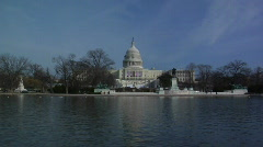 Capitol Snap Zoom to MWS Pool Stock Footage