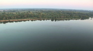 Aerial - from river to fields.mov Stock Footage