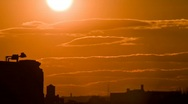 HD Urban Sunset - Clean time lapse Stock Footage