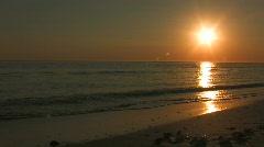 Sanibel Sunset w shells Stock Footage
