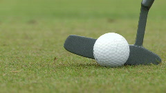 Golf - putter hit Stock Footage