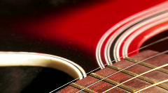 Guitar strings close - up Stock Footage
