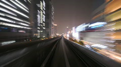 Tokyo Tram Night Part 2 Stock Footage