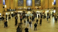 Stock Video Footage of HD time lapse - NYC Grand Central Station