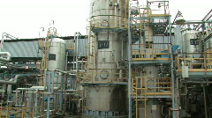 Oil refinery day 2 - stock footage