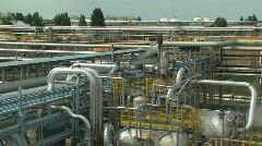 Oil refinery day 6 Stock Footage