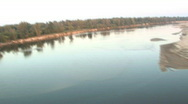 River aerial 1 Stock Footage