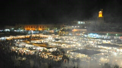 Djemaa el Fna square in Marrakech Stock Footage