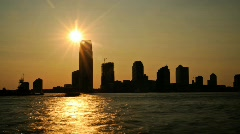 Long Sunset of Skyline Wide Shot- HD Time lapse Stock Footage
