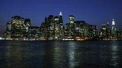 NYC Skyline Evening to Nigh - HD time lapse - stock footage