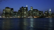 Stock Video Footage of NYC Skyline Evening to Nigh - HD time lapse