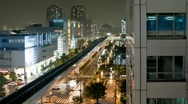 Stock Video Footage of View of Tokyo trains & streets - HD time lapse