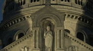 Sacre Coeur in Paris at Night – Zoom Out Stock Footage