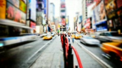 Time Square Vibrant time lapse  Stock Footage