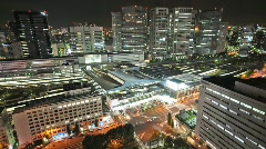 Clean Sharp Tokyo from Above - HD timelapse - stock footage