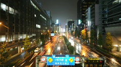 Wet Tokyo Street v2- HD looping time lapse Stock Footage