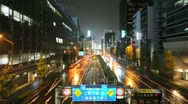 Stock Video Footage of Wet Tokyo Street v2- HD looping time lapse