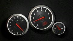 Speedometer, HD 720 Stock Footage
