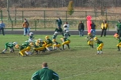 Boys Freshmen Football 04 Stock Footage