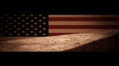 Support Our Troops graphic title Stock Footage