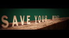Save Your Money motion graphic title Stock Footage