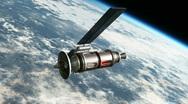 Astronaut fixing satellite HD1080 Stock Footage