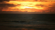 Sunset from a cliff Stock Footage