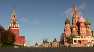 Stock Video Footage of Car near Kremlin. October 10 2008 in Moscow Russia.