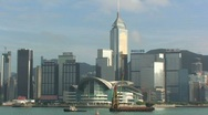 Stock Video Footage of Boats in Hong Kong Harbor – Zoom Out