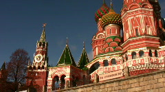 Tower. Church. Panning. October 10 2008 in Moscow Russia. Stock Footage