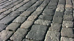 Paving stone. Moscow. Stock Footage
