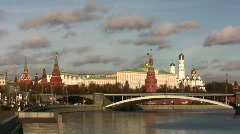 Kremlin. Moscow. Russia. River. Stock Footage