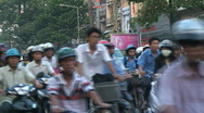 Stock Video Footage of traffic jam Saigon