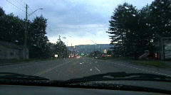 New Hampshire Road In The Rain Stock Footage