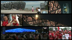 Beijing Olympics split screen Stock Footage