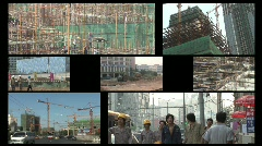 China Construction Split Screen Arkistovideo