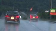 Small Town Raod In The Rain Stock Footage
