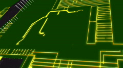 Microchips and Circuitboard Stock Footage