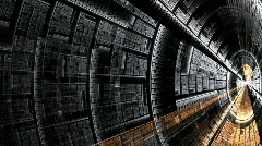 Abstract resembling metal spaceship or tunnel Stock Footage