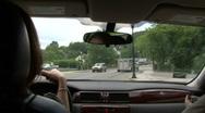 Driving Thru Town Stock Footage