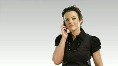 One business woman on the phone 3 - stock footage