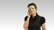 Stock Video Footage of One business woman on the phone 3