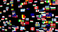 Flags of the world animated 4 Stock Footage