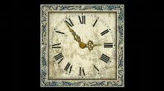 Antique Clock (HD720) Stock Footage