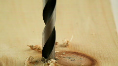 Drilling wood Stock Footage