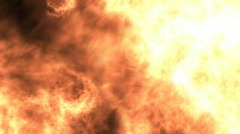 Loop/cycle of burning fire Stock Footage