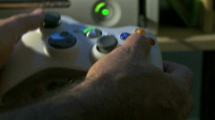 Playing video game - stock footage