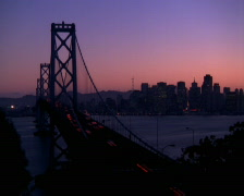 Time-lapse view of Oakland Bay Bridge Stock Footage