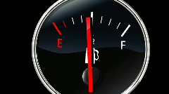 Fuel gauge forward Stock Footage