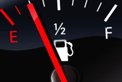 fuel gauge goes empty - stock footage